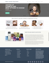 PHP and MySQL Project on Online Cosmetic Shop