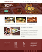 PHP and MySQL Project on Multi Vendor Food Ordering System