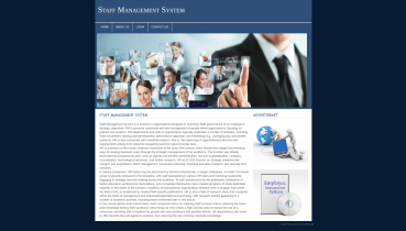 PHP and MySQL Project on Staff Management System