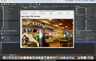 Java and MySQL Project on Food Court POS System