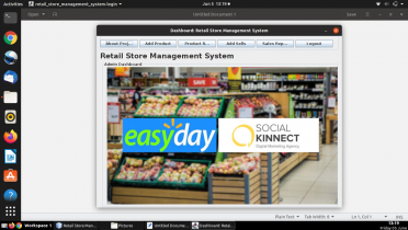 Java and MySQL Project on Retail Store Management System