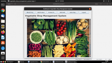 Java and MySQL Project on Vegetable Shop Management System