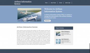 Python, Django and MySQL Project on Airlines Information System