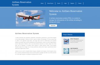 Python, Django and MySQL Project on Airlines Reservation System