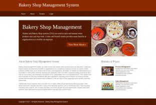 Python, Django and MySQL Project on Bakery Shop Management System