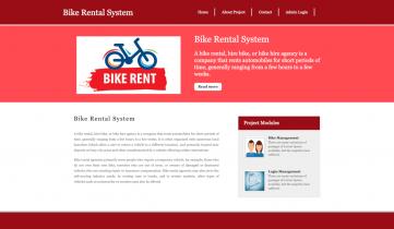 Python Django and MySQL Project on Bike Rental System
