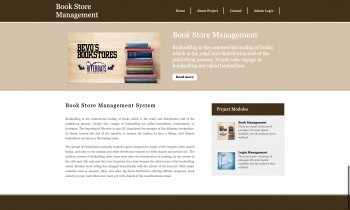 Python Django and MySQL Project on Book Store Management System