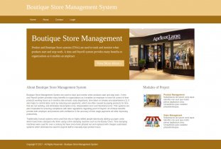 Python, Django and MySQL Project on Boutique Store Management System