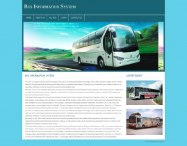 PHP and MySQL Project on Bus Information System