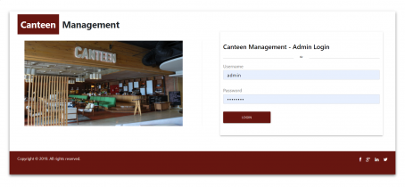 Canteen Management System
