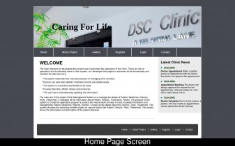 HTML, CSS and JavaScript Project on Clinic System