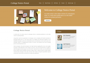 Python, Django and MySQL Project on College Notice Portal