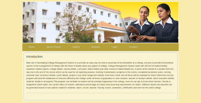 HTML, CSS and JavaScript Project on College System