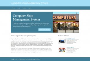 Python, Django and MySQL Project on Computer Shop Management System