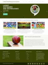 PHP and MySQL Project on Cricket Club Management System