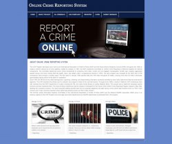 PHP and MySQL Project on Online Crime Report