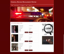 PHP and MySQL Project on Criminal Record Management System