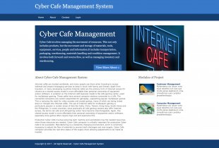 Python, Django and MySQL Project on Cyber Cafe Management System