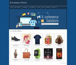 PHP and MySQL Mini Project on E-Commerce Portal