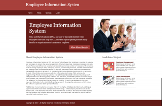 Python, Django and MySQL Project on Employee Information System