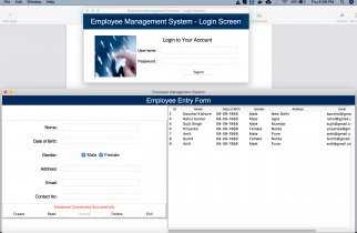 Python Tkinter and MySQL project on Employee Management System