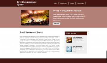 Python Django and MySQL Project on Event Management System