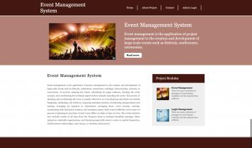 Python Django and MySQL Project on Event Management System