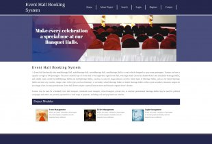 Python Django and MySQL Project on Event Hall Booking System