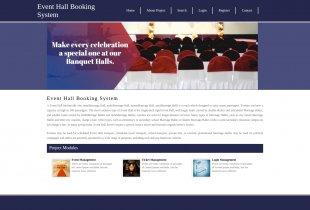 Python Django and MySQL Project on Event Hall Booking System