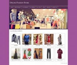 PHP and MySQL Mini Project on Online Fashion Store
