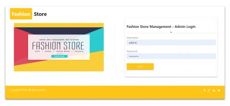 NodeJS, AngularJS and MySQL Project on Fashion Store Management System