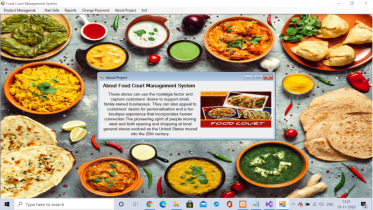 C# Windows Application in Food Court Management System