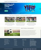 PHP and MySQL Project on Football Club Management System