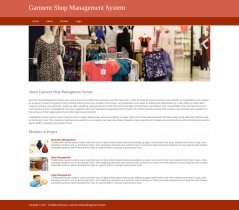Python, Django and MySQL Project on Garment Shop Management System