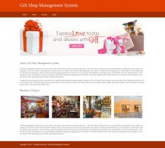 Python, Django and MySQL Project on Gift Shop Management System