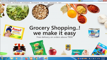 VB.net and MySQL Project on Grocery Store Management System