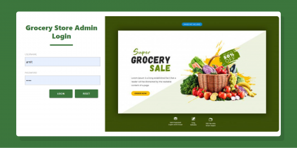 Java Spring Boot, Angular and MySQL Project on Grocery Store Management System