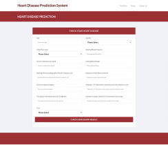 Python, Django and Machine Learning Project on Heart Disease Prediction System