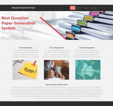 PHP and MySQL Project on Automatic Question Paper Generator