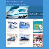 PHP and MySQL Project on Train Ticket Booking System