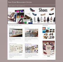 PHP and MySQL Project on Shoe Store Management System