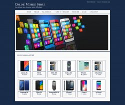 Java, JSP and MySQL Project on Online Mobile Store