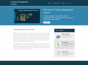 Python, Django and MySQL Project on College Management System