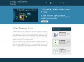 Python, Django and MySQL Project on College Management System