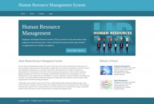 Python, Django and MySQL Project on Human Resource Management System