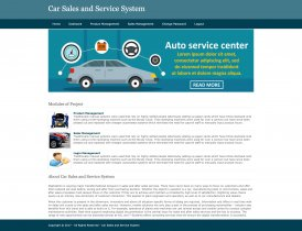 Python, Django and MySQL Project on Car Sales and Service System