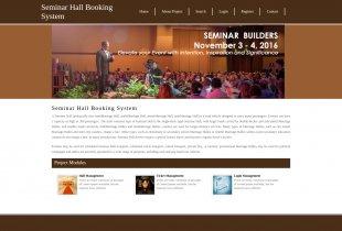 Python Django and MySQL Project on Seminar Hall Booking System
