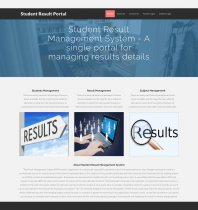 PHP and MySQL Project on Student Result Portal