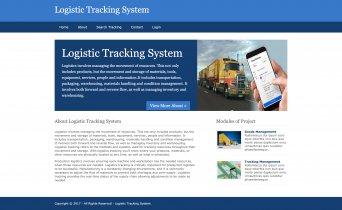 Python, Django and MySQL Project on Logistic Tracking System