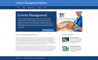 Python, Django and MySQL Project on Courier Management System